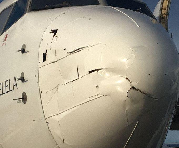 Morro del Boeing tras la colisión con un dron
