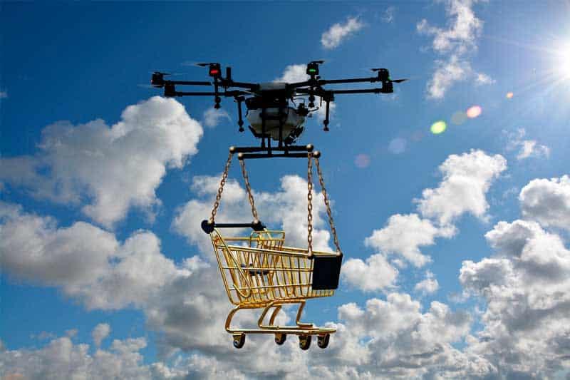 Transporte de mercadería con drones.
