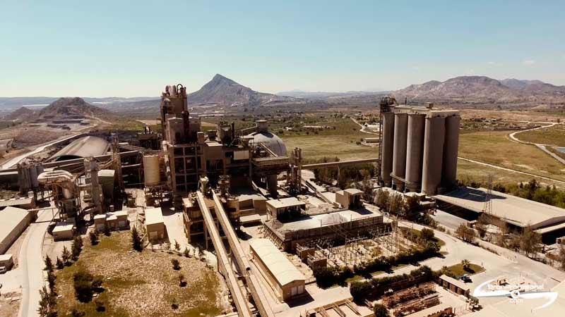 Video industrial con dron