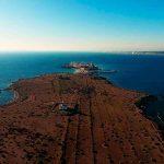 Isla de Tabarca con dron