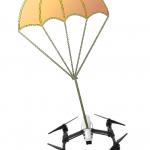 Uso de paracaidas para drones