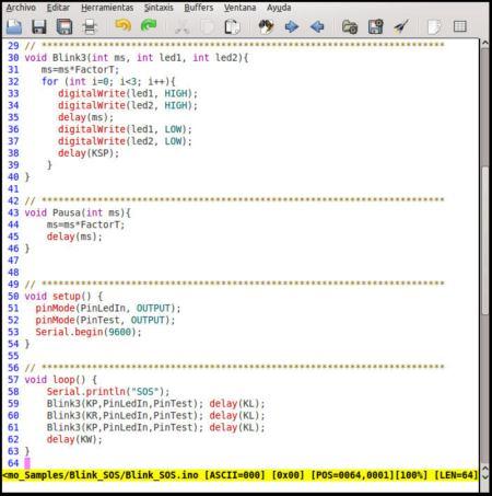 Código Arduino
