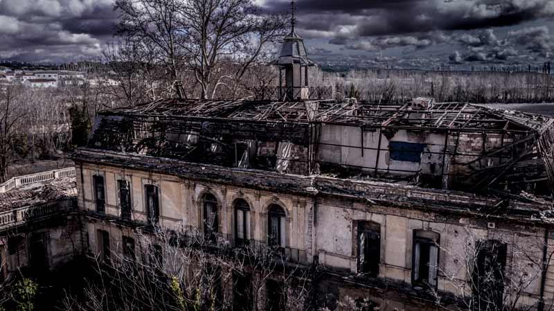 Palacio de los Gosalvez con dron