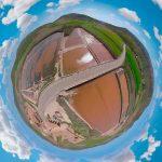 video con dron en 360