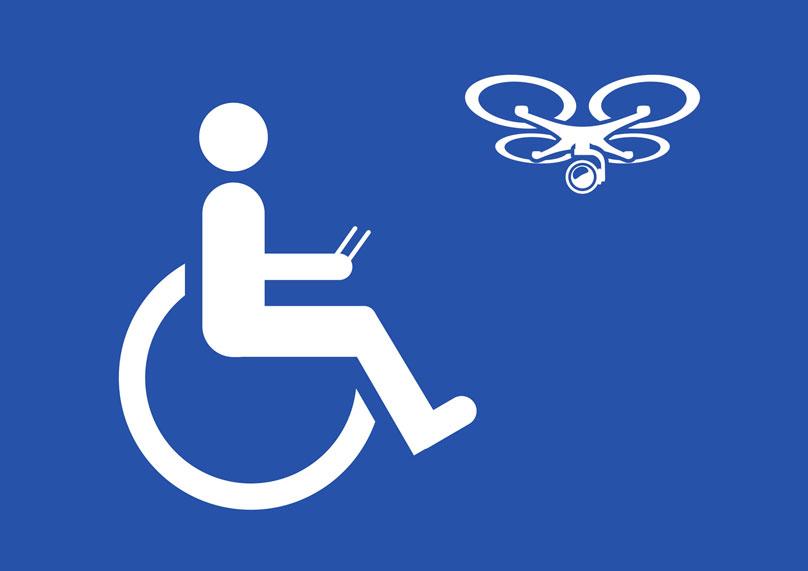 pilotos de drones con discapacidad