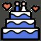 Banquete de boda, pastel