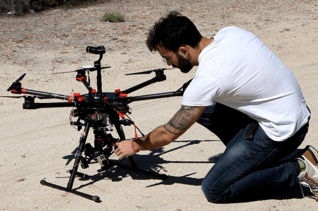 Operadora de drones freelance