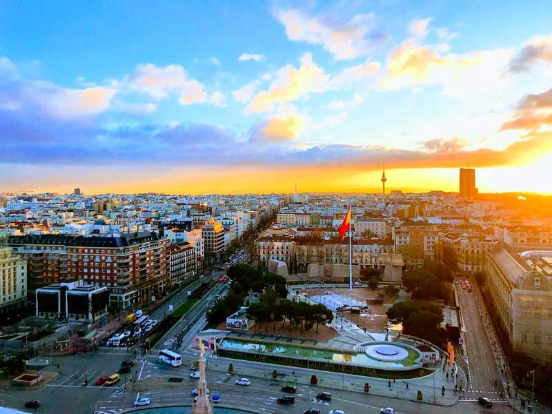 Fotografía aérea de Madrid